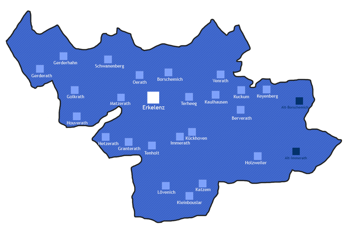 Messdiener Erkelenz und Gemeinden Übersicht